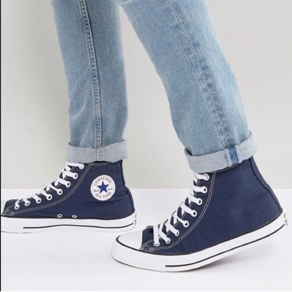60340f4210a16 Converse women's navy blue high top shoes